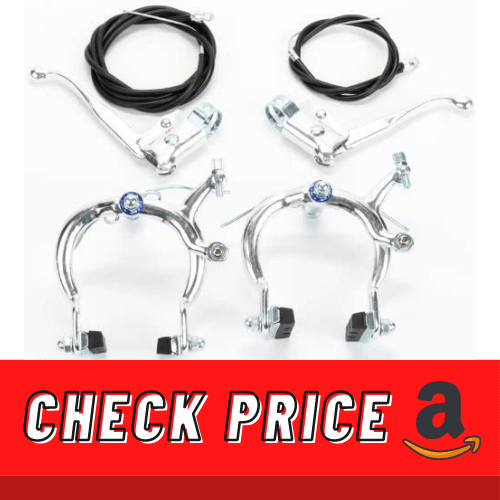 Sunlite Alloy CruiserBMX Bicycle Brakeset Front & Rear, Silver