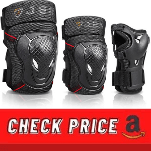 JBM BMX knee pads and elbow pads with wrist guards